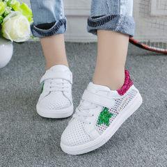 童鞋运动鞋夏女童网眼白色镂空儿童小白鞋公主女孩鞋男童板鞋透气 粉色网 26