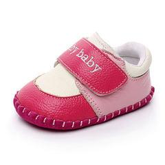 春季新款单鞋 小童婴儿魔术贴运动童鞋 宝宝儿童室内软底学步鞋 D201蓝色 17码/内长11.33cm
