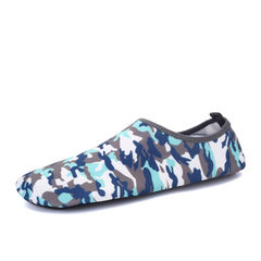 Socks and shoes barefoot skin-tight diving shoes yoga treadmill shoes hot style beach shoes wading u MX camouflage blue 35 and 36