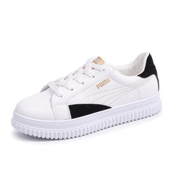 Ins small white shoes women`s super popular shoes 2018 new early spring students flat casual shoes K black 35