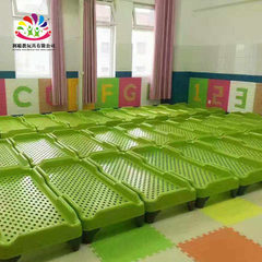 Nursery bed new plastic siesta bed baby bed early education center children bed stacked bed Fruit green 138 * 60 * 26