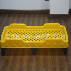 Tonggong kindergarten plastic bed for children wholesale thickened injection bed children lunch brea yellow 138 * 60 * 25