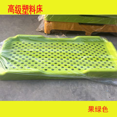 Nursery bed children`s bed thickened plastic bed siesta bed all plastic bed siesta folding bed plast Fruit green (thickened) 136 * 58 * 26