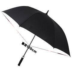 绍兴自动长柄高尔夫商务雨伞批发超大直杆防风创意广告雨伞定制 商务黑色 120cm*8股