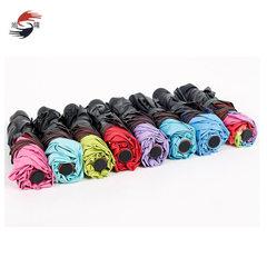 厂家直销 三折黑胶遇水开花伞黑胶折叠伞 批发定制各种广告伞雨伞 粉色 55cm