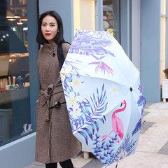 小清新伞烈火鸟森系软妹雨伞折叠女晴雨两用太阳伞防紫外线小黑伞 粉色 58cm*8k