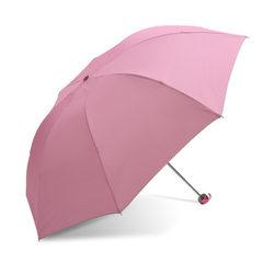 天堂伞印刷logo雨伞折叠336T遮阳伞防晒伞晴雨伞太阳伞定制广告伞 粉色 57cm*8k