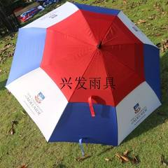 27 inch fake double windproof full fiber golf umbrella straight pole advertising umbrella gift umbre multicolor