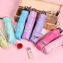 新品黑胶太阳伞 遮阳晴雨伞 防晒蕾丝花边伞 紫罗兰