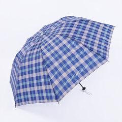 超大号雨伞格子伞8骨加固折叠轻便晴雨两用商务伞男女通用防暴雨 混色 65*8K