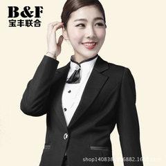 2015秋季商务OL修身面试职业装套装 西服女士西装韩版时尚女装 黑色 S