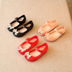 Children`s shoes children`s sandals girls` sandals Korean version of the big children`s princess sho red 24 size 15 cm