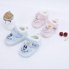 BABUDOG秋款机能学步鞋舒适防滑学步鞋 双色儿童经典胶片底童鞋 浅蓝 12-15码(内长110
