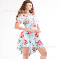 Amazon is selling hot style 2018 women`s dress, new summer dress and big skirt MT - 31-01 figure l