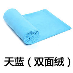 Authentic thickened double-sided fleece sleeping bag for outdoor adult envelope type indoor siesta i Sky blue (double velvet) 180 * 80