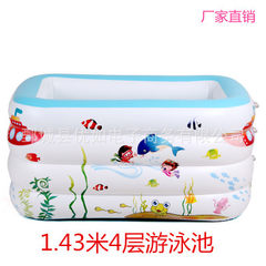 Manufacturer direct sale of 4 - storey swimming pool large size baby swimming pool inflation - insul pink