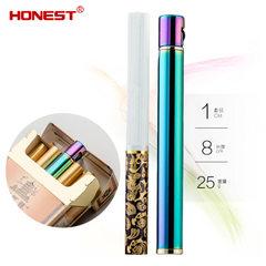 Baicheng high - grade inflatable metal lighters men smoke creative sandwheel lighter factory hot sty golden 8.3 * 1 cm