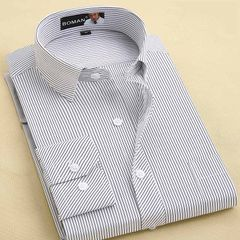 Men`s shirts spring long sleeve shirts business casual white shirts professional suits without ironi AM027 38 / S