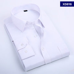 New shield spring men`s shirt white long-sleeve shirt fashion business professionals are wearing the white 37