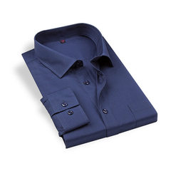 New style autumn wear men`s fashion casual long-sleeve shirt men`s shirt yiwu processing customized  Navy blue 38