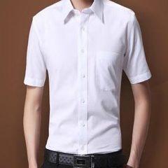 Men`s white short-sleeved shirts wholesale factory professional work wear shirts ladies` style Short sleeved white man 38