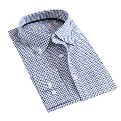 Spring 2017 middle-aged long-sleeve shirt men`s pure cotton non-ironing plaid business shirt loose c HTHD3B037 170/88 a (39)