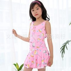 Girl`s swimsuit: a new fashion swimsuit for the lovely princess pink The average size is 6 to 12 years old