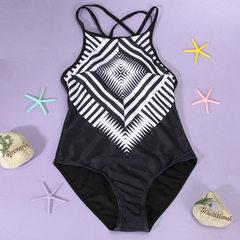 Swimsuit amazon hot style full-size sexy bikini swimsuit Black and white s.