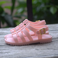 New products 2018 summer sandals for boys and girls students Roman cave shoes for sand beach shoes w [pink Roman shoes] Six yards = 12.8 cm