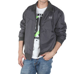 361 men`s jacket sports wear spring and autumn leisure large size youth stand-up collar jacket windb gray s.