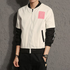 The men`s jacket is customized for the pilot`s thin coat white m
