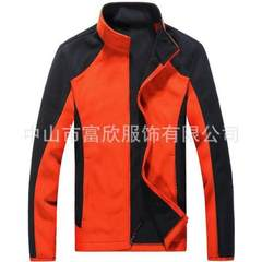 Winter double layer thickened soft shell flannelette coat custom-made men`s fleece jacket thermal wo red xs