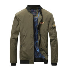Cross-border casual men`s air jacket men`s military air jacket flight suit men`s spring jacket men`s khaki m