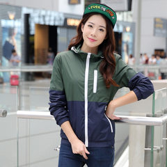 In the spring and autumn of 2016, the young people`s pure color fashionable thin jacket is casual an Lady`s army green xs