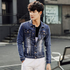 Xintang cowboy city 2017hot style autumn denim jacket men comfortable pasted cloth decoration grindi The picture color m