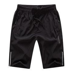 2018短裤男 夏季新款男士短裤 休闲宽松运动户外五分裤 训练裤 黑色 M
