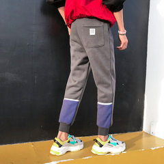 Spring and summer men`s casual pants 2018 Hong Kong tsai stylish harem pants Korean version of thin  A25 casual pants grey m