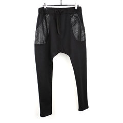 The fall Korean version of the popular sports pants men`s trousers casual easy running knitted sprin black m