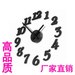 Yiwu creative clock electronic diy stereoscopic living room digital clock interesting clock wholesal Black # YPHB - 33252