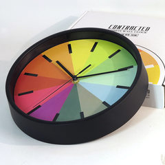 Simple fashion unique 10 inch wall clock 10 inch rainbow wall clock creative simple wall clock gift  white