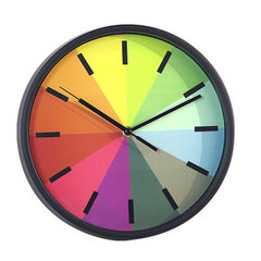 Simple fashion 10 inch wall clock quiet 10 inch rainbow wall clock creative simple wall clock gift w white