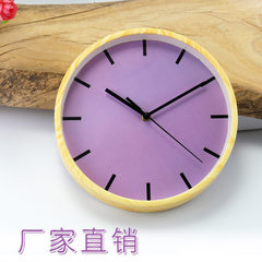 Hot style imitation wood - grain clock/factory direct sale hot style recommended home decoration han white