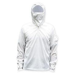 钓鱼服防晒服透气钓鱼防晒衣垂钓服装渔具钓鱼衣服 白色 L