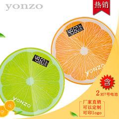 厂家批发 定制印LOGO电子体重秤人体健康称礼品称家用玻璃秤 柠檬26*26cm