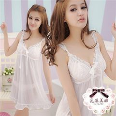 Manufacturer feedback new and old customers foreign trade brand lace tulle sexy pajamas lingerie lad white All code