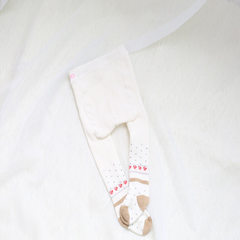 We offer our customers back the rose style of children`s wool circle and pantyhose at a loss Khaki rose S: 0=10 months