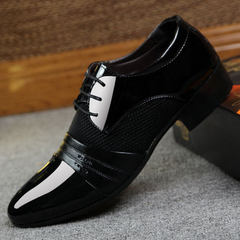 Manufacturer direct selling hot style shoes across the border hot style men`s shoes 45 yards 46 busi black 38