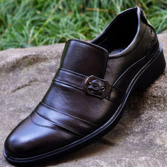 The factory directly provides new leather business casual shoes for men`s casual shoes, fashionable  883 black 38