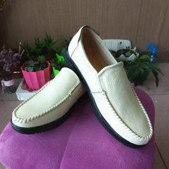 Men`s leather leather shoes business suit men`s shoes leisure breathable sandals large size middle - white 38