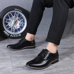 New style men`s fashion Korean version of the British cross-border large casual men`s shoes oversize black 38